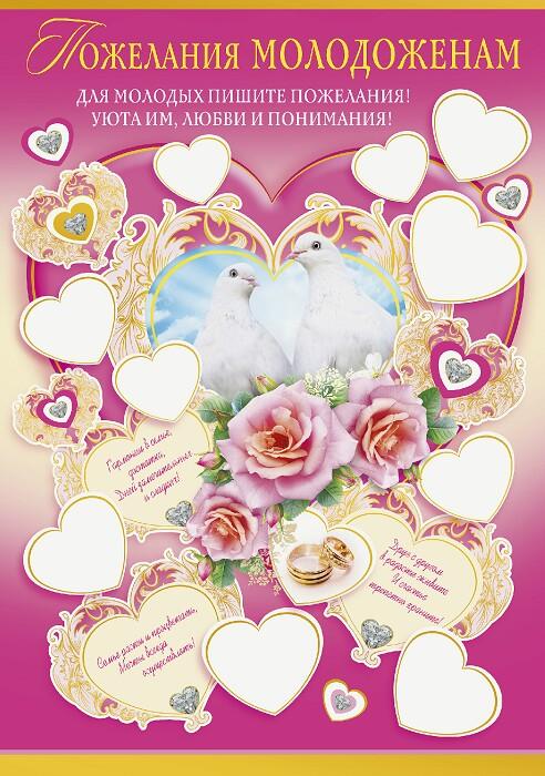 Свадебные плакаты и поздравления